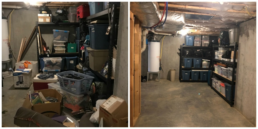 basement beforeafter